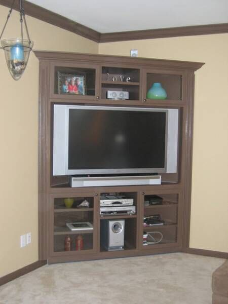 how to build a corner entertainment center