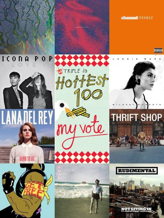 Just voted in triple j's Hottest 100 2012. One of my favourite things to do. These songs summarise my year in music.