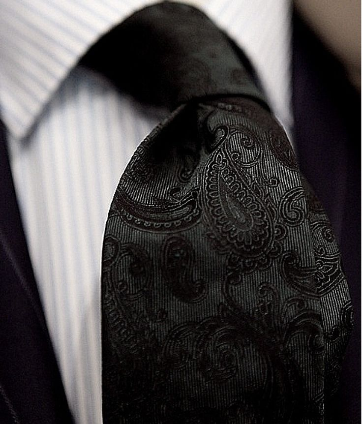 Black Paisley Tie.