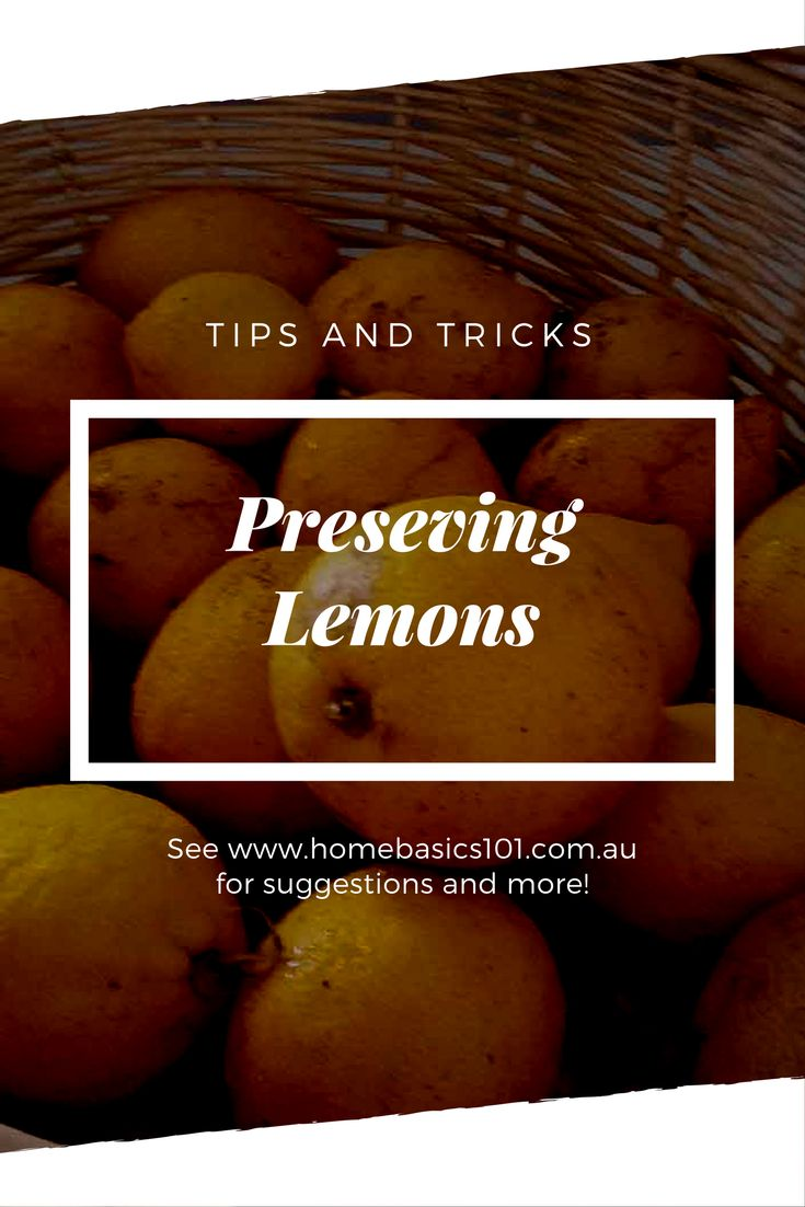 Preserving Lemons - How to Preserve Lemons A few different ways