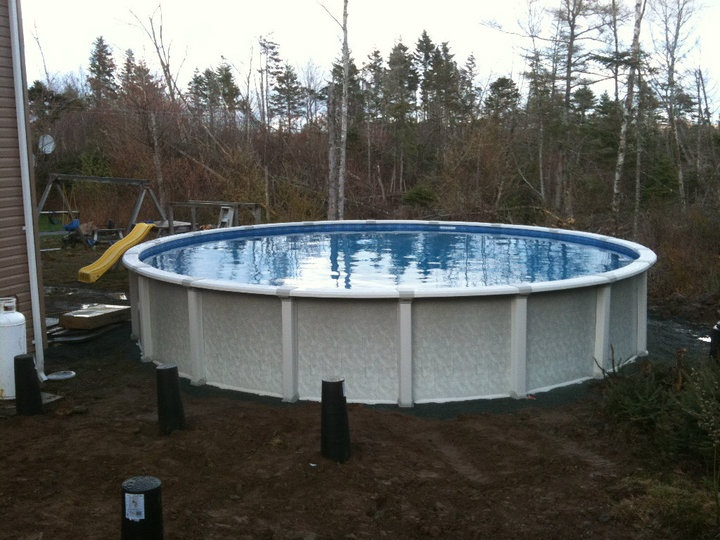 13 best ideas about construction pools in progress on - Above ground resin swimming pools ...