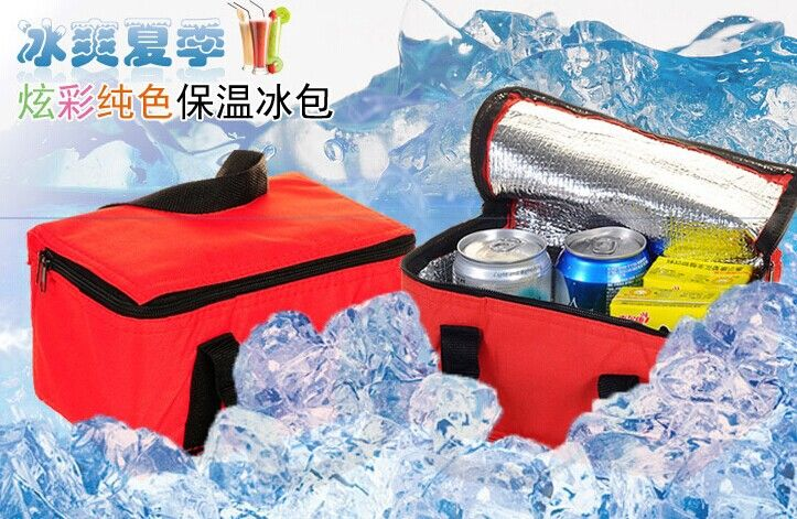 Polyester Ice warm bottle Bag Outdoor Practical Small Portable Cooler Bag milk Lunch Bags Picnic Waterproof Pouch Bag