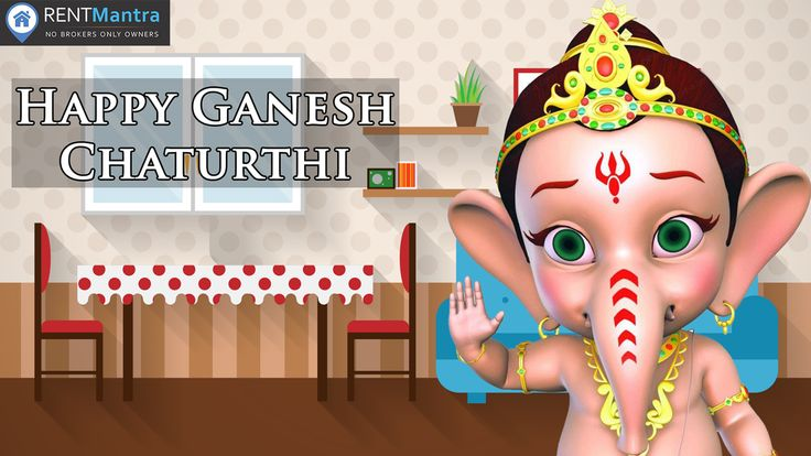 RentMantra Wishes you Happy Ganesh Chaturthi. May your Home be Filled with Health and Prosperity. #Ganeshchaturthi #Rentmantra #brokerfree