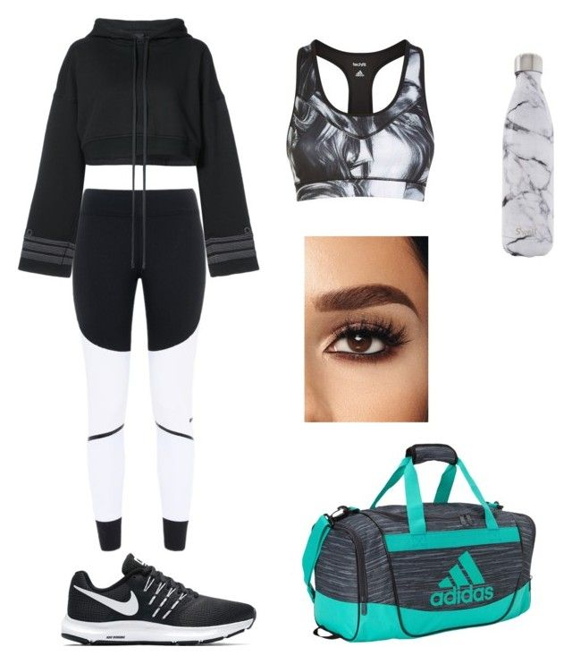"""ready for sport"" by kehichabelle on Polyvore featuring adidas, STELLA McCARTNEY, NIKE, S'well and Vera Wang"