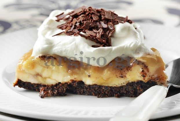 Κολασμένη τούρτα Banoffee με κρέμα γάλακτος