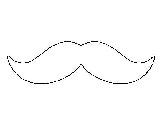 Mustache pattern use the printable outline for crafts for Mustache print out template