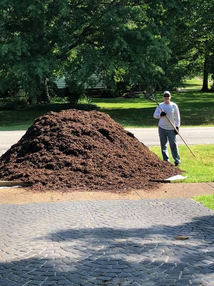 This Is How My Hubby Relaxes On The Weekend No Seriously All The Mulch Was Distributed By The End Of The Day All 15 Cubic Yards Mulch Yard Relax