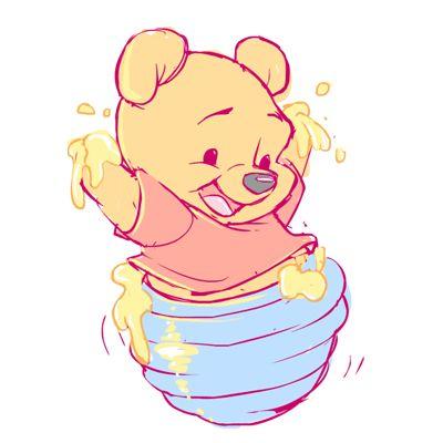winnie the pooh bebe con miel