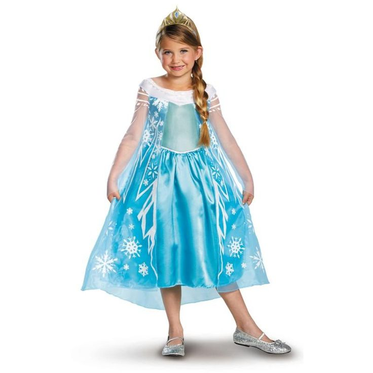 Girl's Frozen Elsa Deluxe Costume: every purchase through this link supports charity
