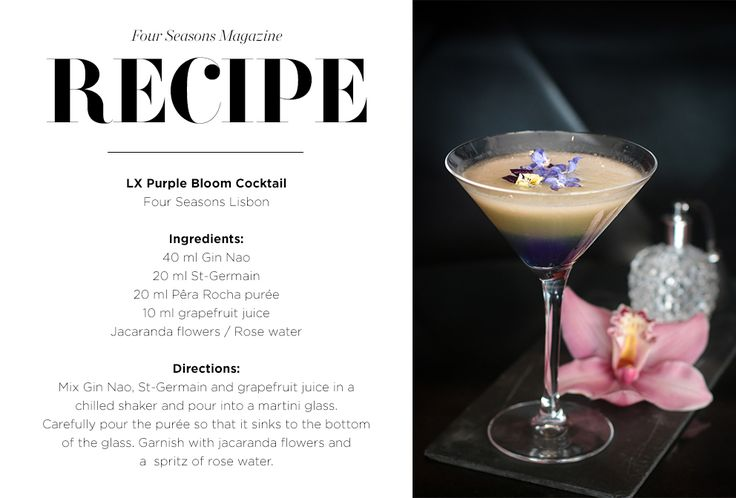 Four Seasons Lisbon Spring Cocktail Recipe #CocktailQuarterly: April Showers bring May Flowers