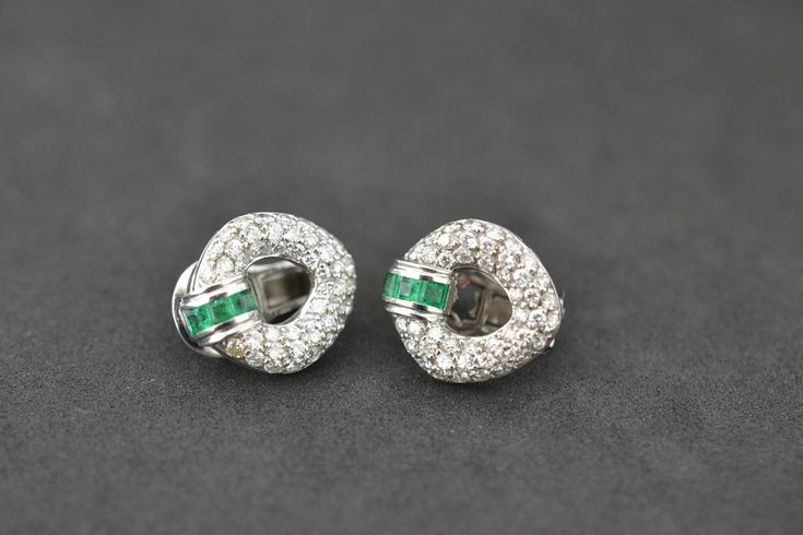 #Emerald & #Diamond earrings #platinumworksbespoke #cork