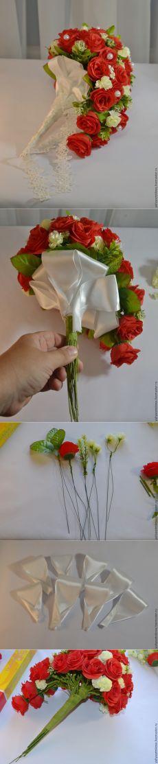 Создаем каскадный букет-дублёр из искусственных цветов - Ярмарка Мастеров - ручная работа, handmade