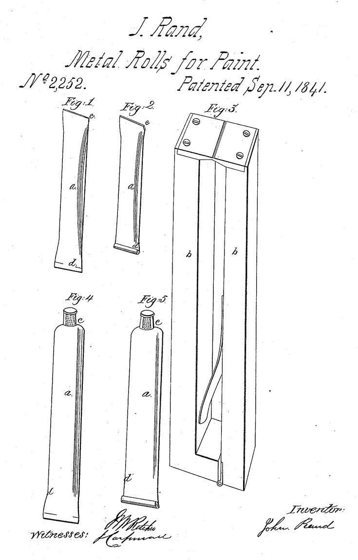 """в 1841 г. американский ученый и художник Джон Рэнд запатентовал изобретенные им оловянные тюбики для скоропортящихся красок. Правда, это были скорее оловянные трубочки, чем те тюбики, к которым мы все привыкли. Но именно этим первым тюбикам мы обязаны развитием целого художественного направления - с их появлением обогатилась цветовая палитра, упростилось использование красок, художники получили возможность """"выйти на пленэр"""". Благодаря изобретению тюбиков были созданы многочисленные новые…"""
