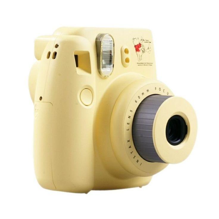 Pooh Instax mini camera 8s. Polaroid Instax Camera designed by FujiFilm equipped with contorl exposure. http://www.zocko.com/z/JFz33