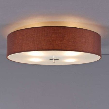 Deckenleuchte drum 50 rund braun lampe light einrichten for Deckenleuchte braun