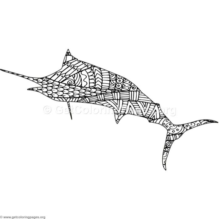 Download This Free Zentangle Swordfish Coloring Pages Coloring Coloringbook Coloringpages Animal Coloring Pages Coloring Pages Coloring Pages For Grown Ups