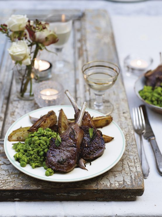Jamie's Killer Lamb Chops with Crispy Wedges & Minted Peas. These super-sexy lamb chops are hands-on and are great for sharing - just don't forget the napkins (or do!). The flavours are incredible, and if these don't impress, I don't know what will.  http://www2.woolworthsonline.com.au/Shop/RecipeCategory/234#url=/Shop/Recipe/2040%3Fname%3Dkiller-lamb-chops-with-crispy-wedges-minted-peas  #Woolworths #JamieOliver #recipe #Valentinesday