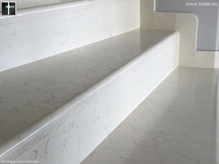 Hoder schody marmurowe w bieli - detal #kamień #granit #wnętrza #interior #design