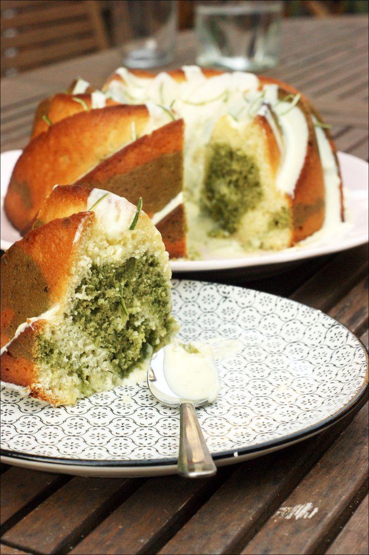 Bundt cake marbré matcha/citron vert