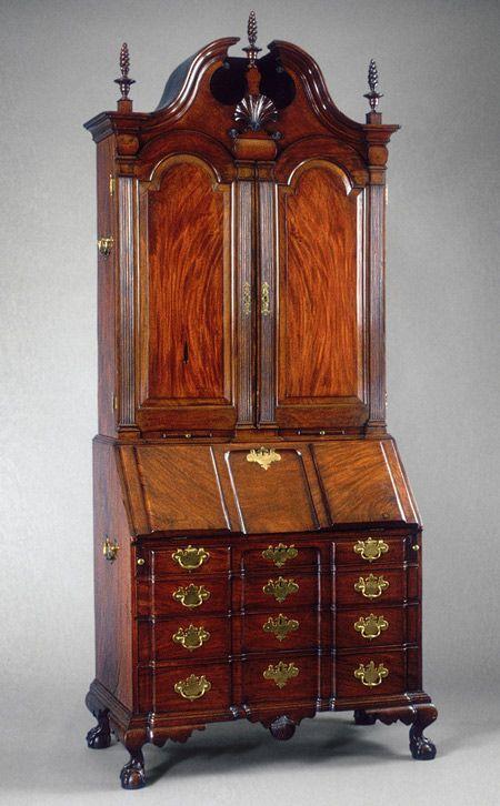 Desk and Bookcase  c1779  by Nathaniel Gould  Salem  Massachusetts. 144 best Fine Antiques images on Pinterest   Antique furniture