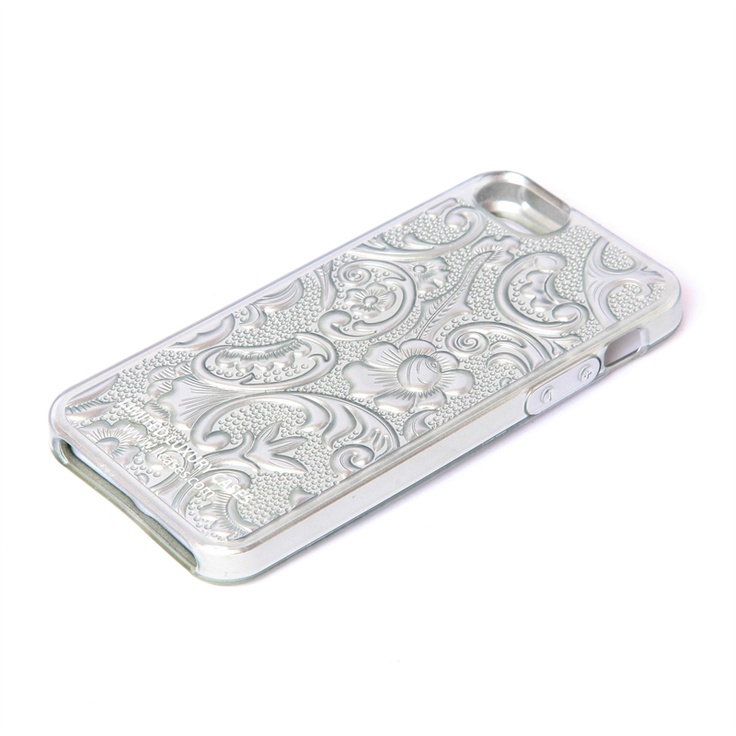 The Crave case in Silver by LLCASES is made for the iPhone 5.  Made of TPU, this case features a gorgeous floral design throughout, a grip  touch, and custom overlaid button control.  It also includes a printed LLC logo, plus aAll ports, speakers, and camera feature easy unobstructed access. $17.99