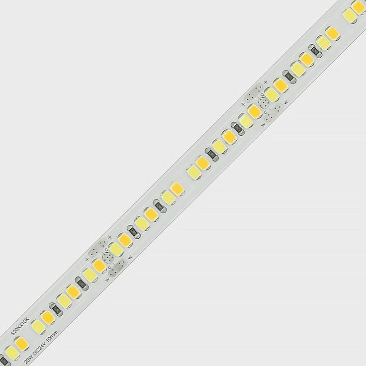 20w tunable white 2700k to 5700k led strip 2835 24v constant current led flexible strip led. Black Bedroom Furniture Sets. Home Design Ideas