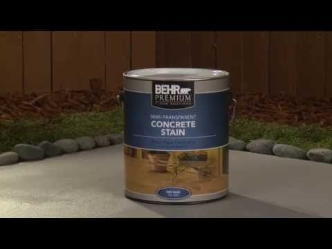 How-To: Apply Behr Premium Semi-Transparent Concrete Stain - YouTube