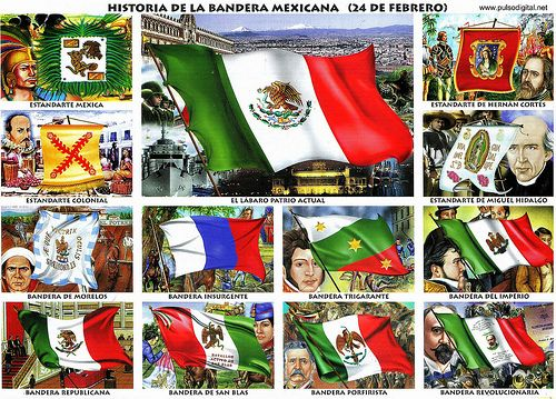Historia de la bandera mexicana [Monografía]