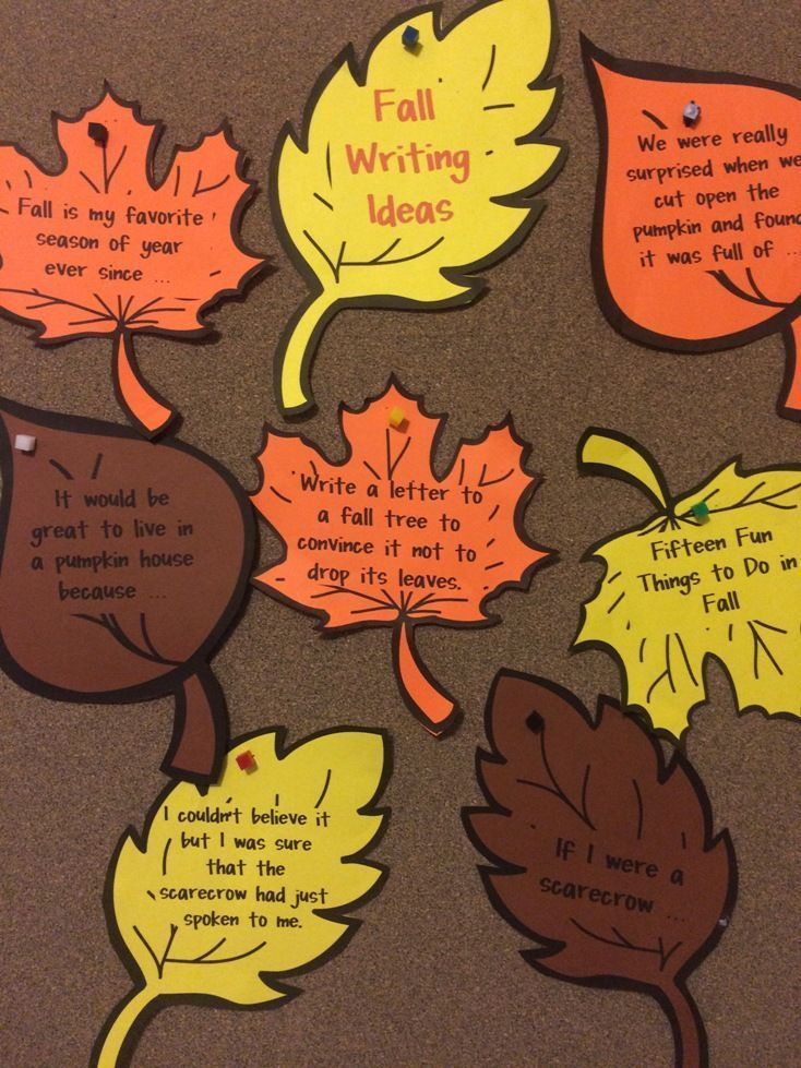 FREEBIES - Fall Writing Prompts is a set of 7 printable Fall writing prompts to motivate young writers. Just print on colored paper and cut out!