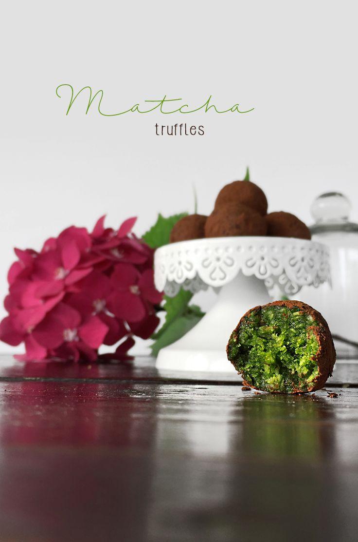 matcha truffles #vegan #matcha #truffle