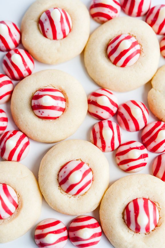 Looking for Thanksgiving or Christmas cookie recipe ideas? These Candy Cane Kiss Peppermint Cookies are so simple and delicious, and help make the holidays even more magical for your guests. Click here for the recipe.