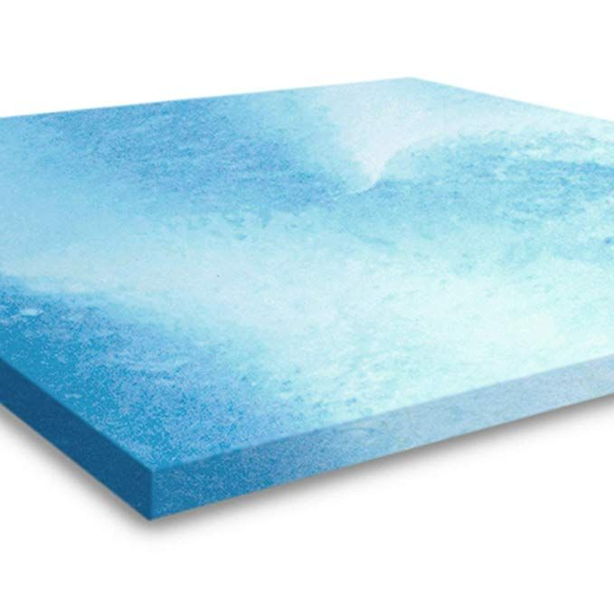 Gel Memory Foam Mattress Topper Queen Size 2 Inch Thick Ultra