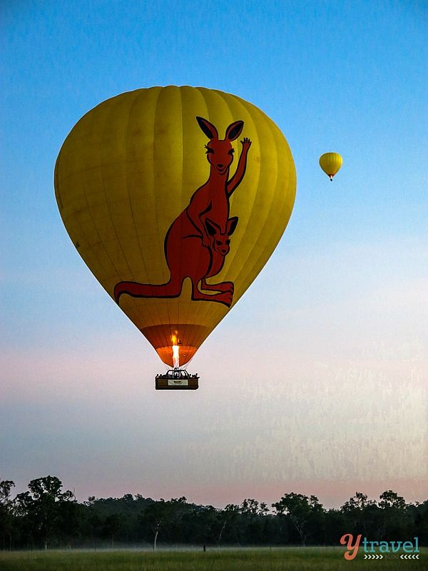Hot Air Ballooning over the Atherton Tablelands in Queensland, Australia.