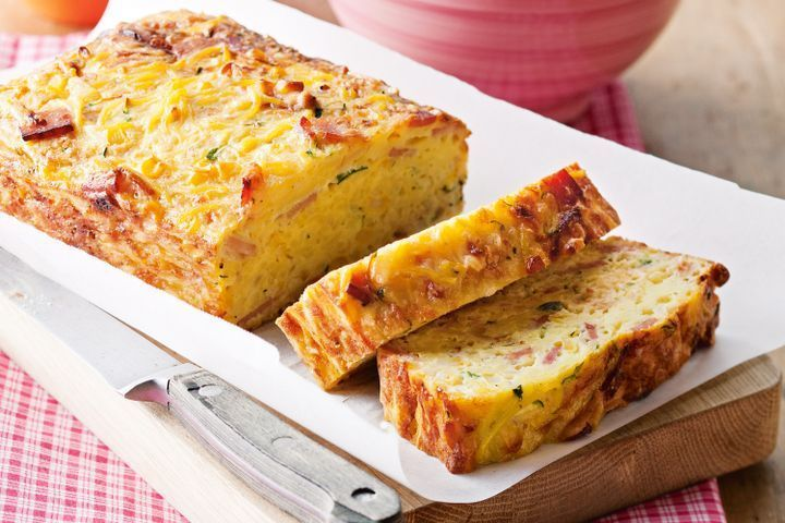 Noodle, corn and bacon loaf