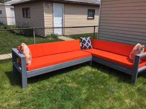 diy outdoor friendly 300 youtube made with 2x4u0027s - Outdoor Sectionals