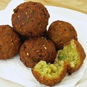 Falafel.......served with tahini sauce....Ahhhhhhh!!!!