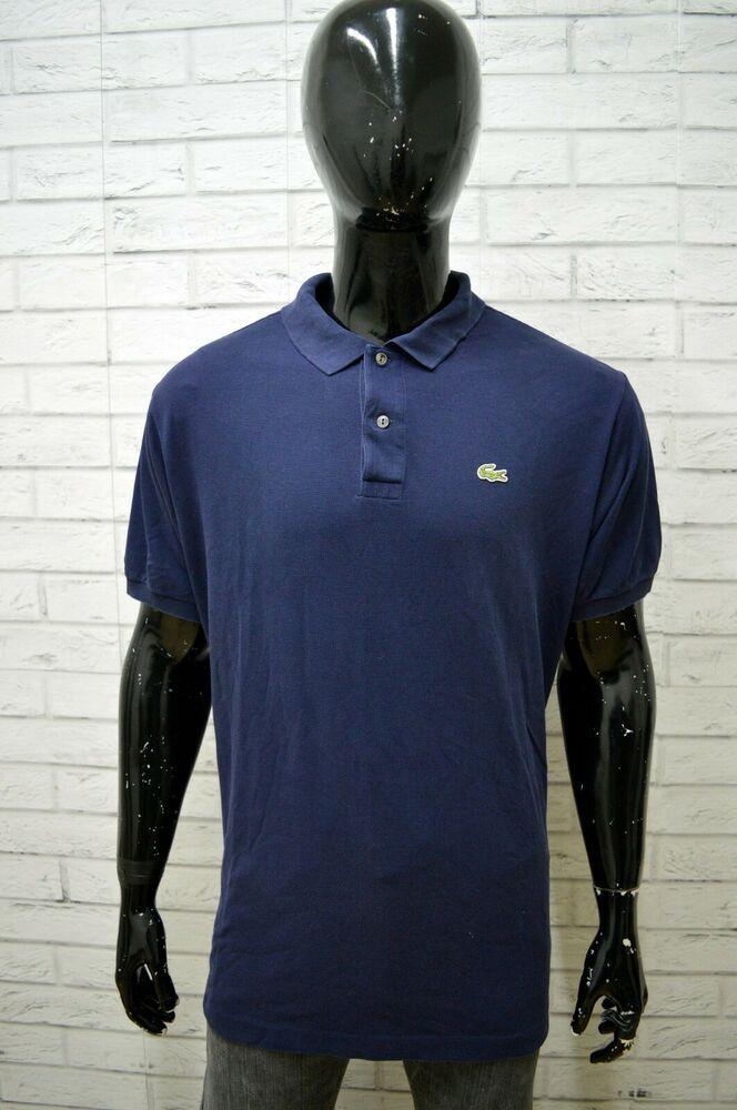 comportarsi Scopa bussola  Polo Uomo LACOSTE Taglia Size 7 Maglia Maglietta Camicia Shirt Man Cotone  Blu | Magliette, Camicia, Lacoste