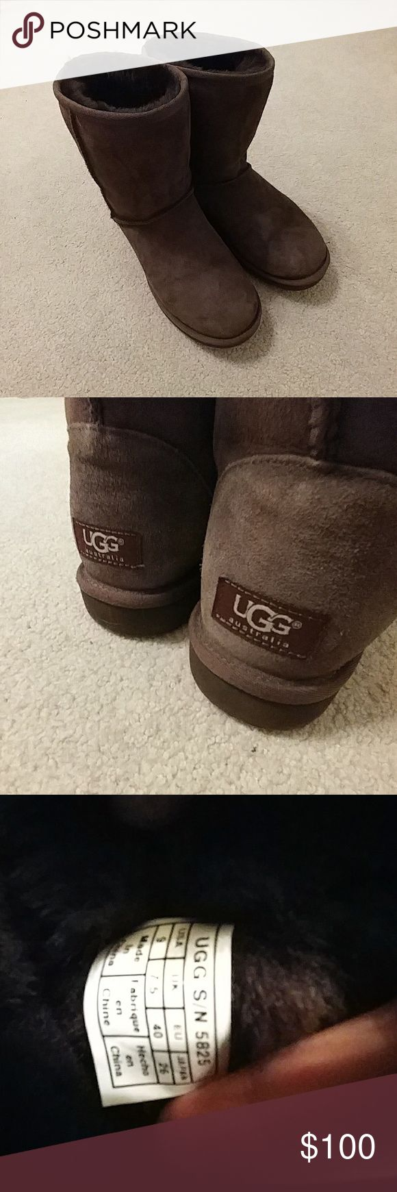 Women's UGG II SHORT CHOCOLATE Chocolate brown UGG boots. Great condition with toe creases. No stains or marks. UGG Shoes