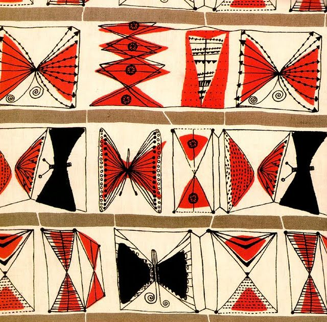 .. Lucienne Day...Zentangle idea