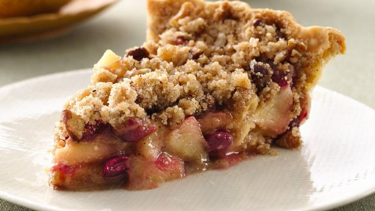 French Cranberry-Apple Pie-Tart cranberries add a delicious twist to traditional apple pie. http://www.pillsbury.com/recipes/french-cranberry-apple-pie/dd3c422a-a952-4b4d-b2c3-794d98ba3a9d