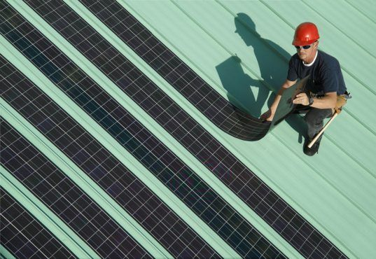 SoloPower's new flexible rolling solar panels stand to significantly reduce production and installation costs. With a notable 11% efficiency, the easily-installed thin-film panels may be able to give traditional silicon panels a run for the money. | Inhabitat