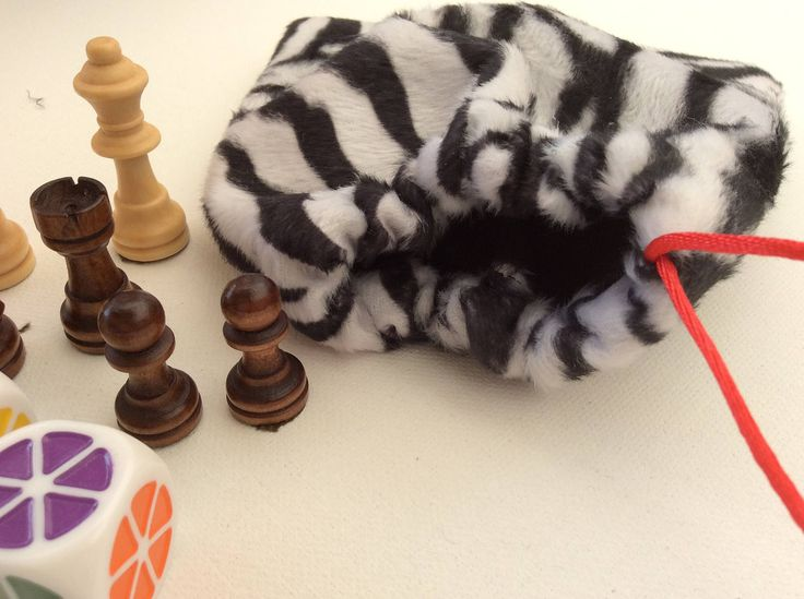 #dicebag Dice Bag, Zebra Fleece Fabric, for storing Gaming Dice, Tokens or Chess pieces, Cosplay, Geek, Nerdy by peachblossomdesigns on Etsy