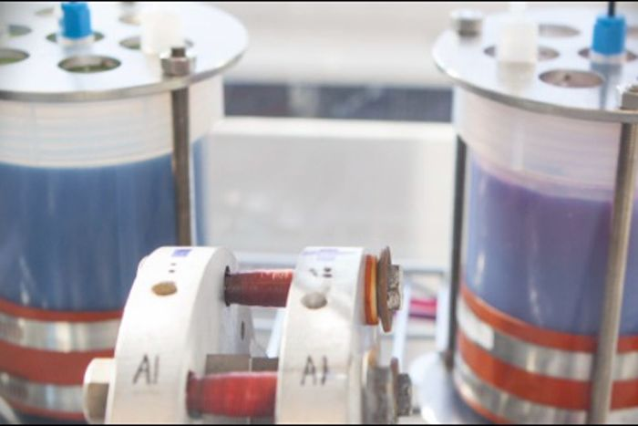 Using flow batteries, wind and solar power may soon be stored on site. Flow Battery Breakthrough May Boost Green Energy Storage (Video