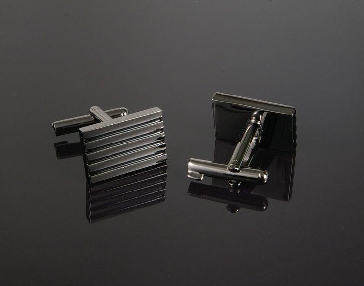 Uncuff Cufflinks in Gunmetal Grey - cufflinks with built in handcuff key! www.cufflinked.com.au
