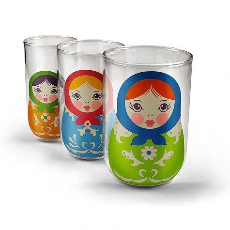 Set de 3 vasos Mamushka