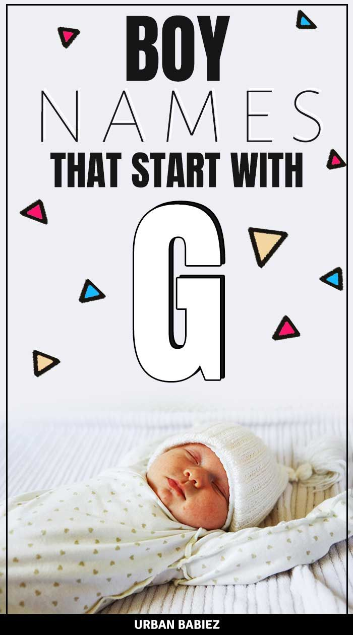 Boy Names That Start With G