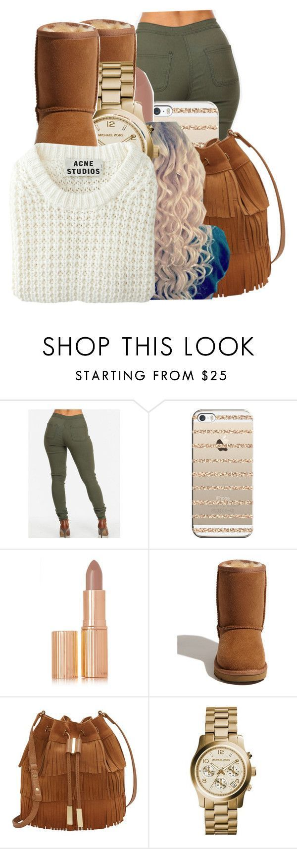 11/19/25 by ayeeitsdessa ❤ liked on Polyvore featuring Casetify, Charlotte Tilbury, UGG Australia, Vince Camuto, Michael Kors and Acne Studios #acneAustralia,