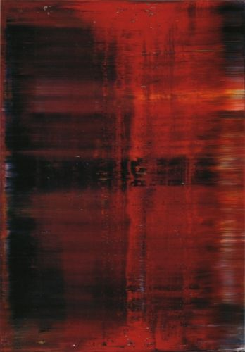 GERHARD RICHTER - red abstract