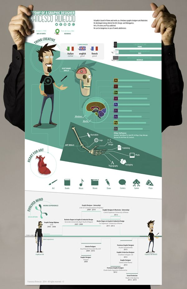 art designer resume 30 Outstanding Resume Designs