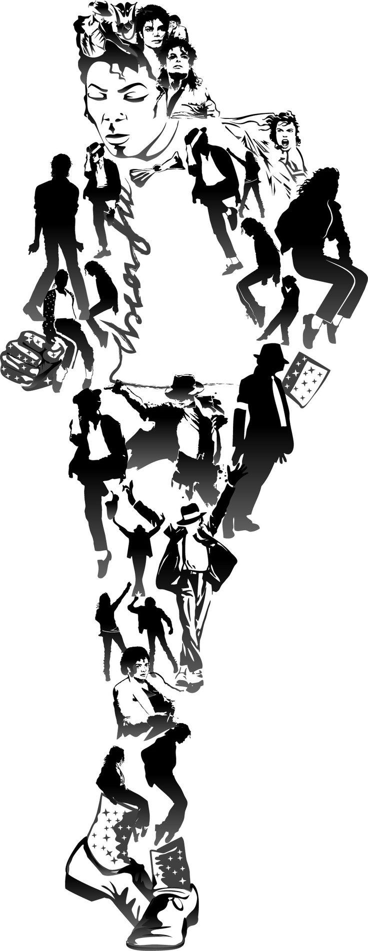 Michael Jackson composite caricature
